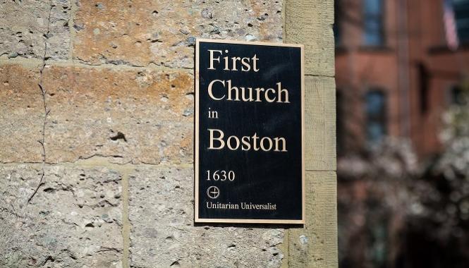 Doorway at First Church in Boston