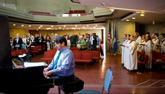 Piano at First Church Boston